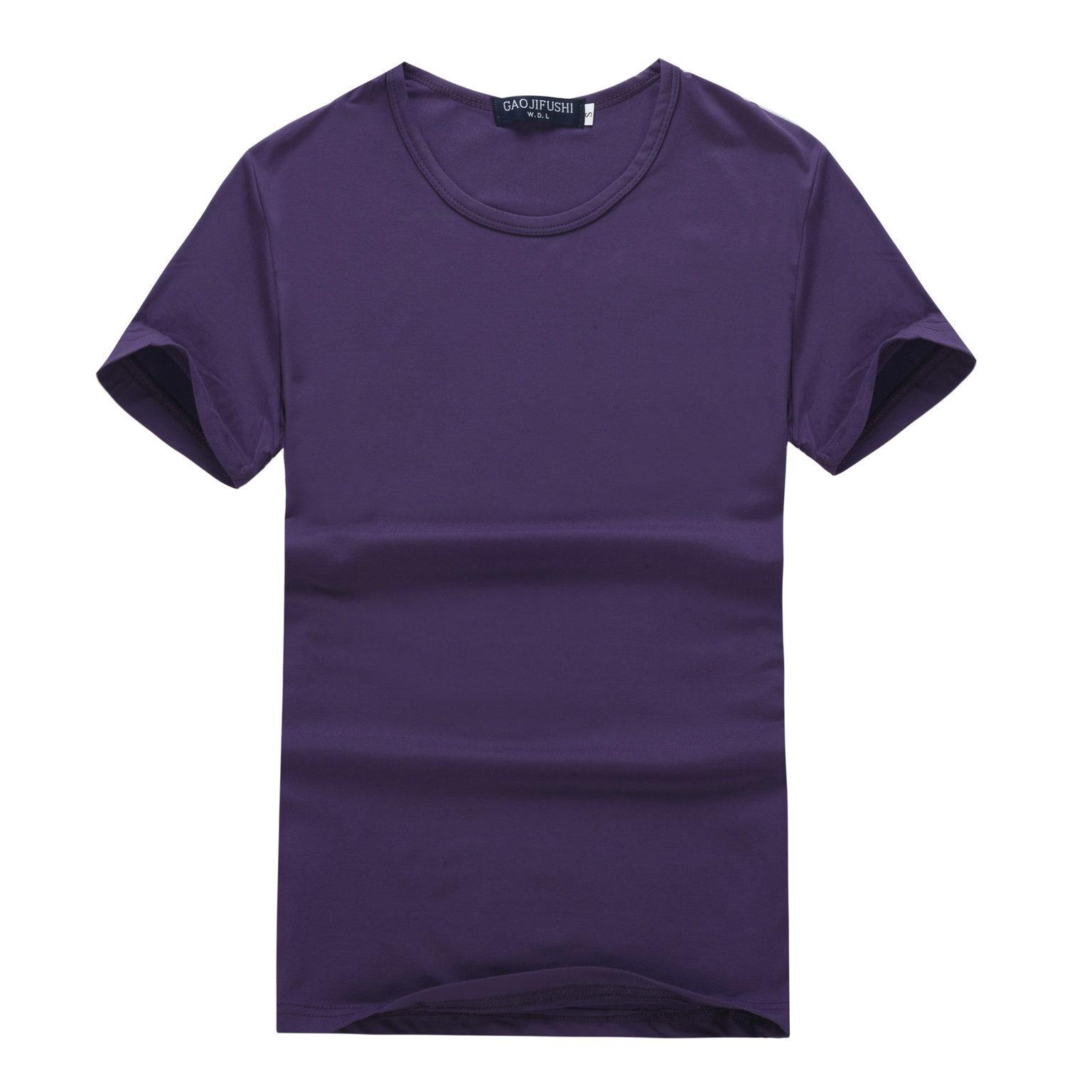 时尚都市青年莫代尔短袖运动t恤休闲男式T恤圆领纯色青年定制DIY
