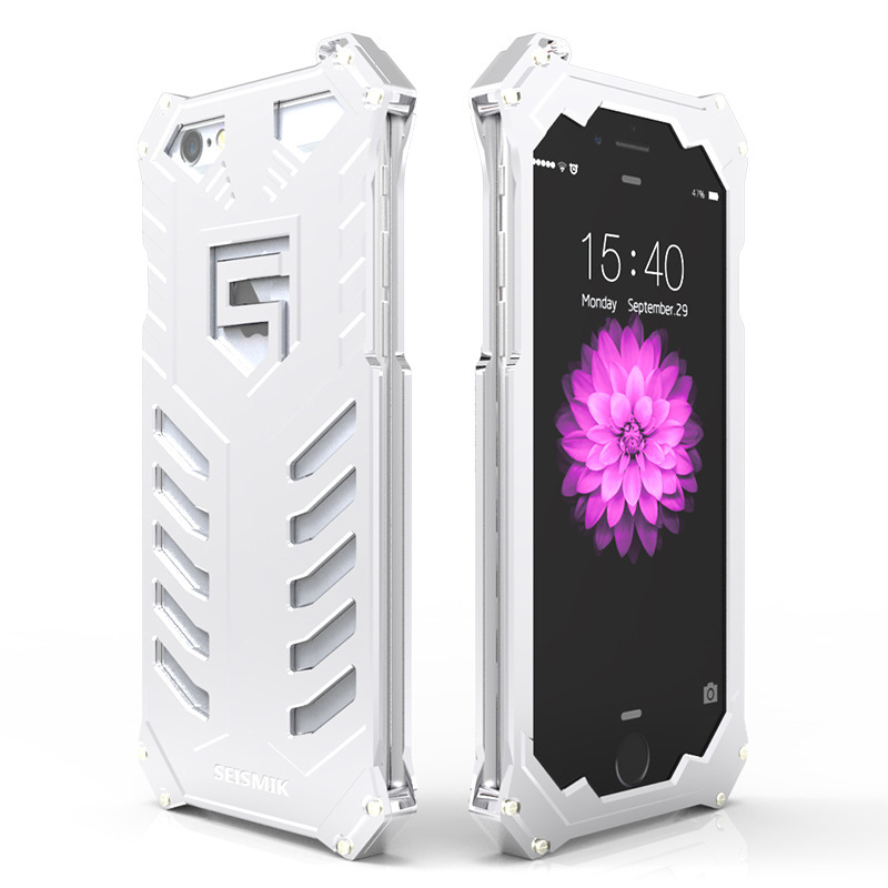 SEISMIK S-ONE Armor Man Shockproof Aluminum Shell Metal Case Cover for Apple iPhone 6S Plus/6 Plus & iPhone 6S/6