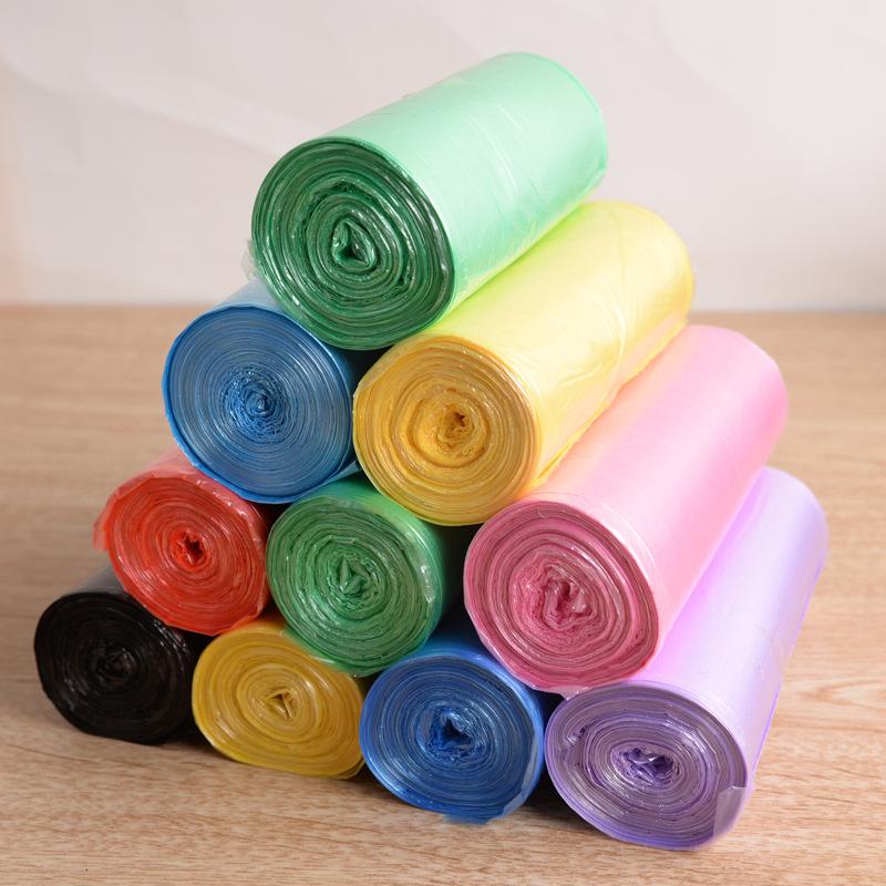 家用彩色连卷垃圾袋
