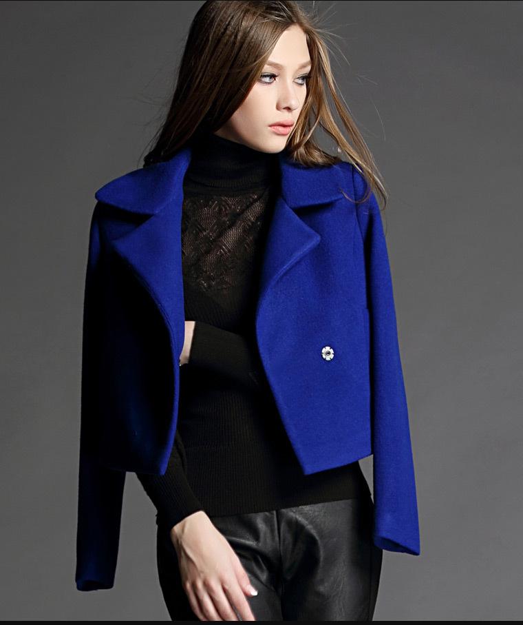 海赛蜜尔2019春秋冬新款W32毛呢外套女短款小香风修身毛呢短外套
