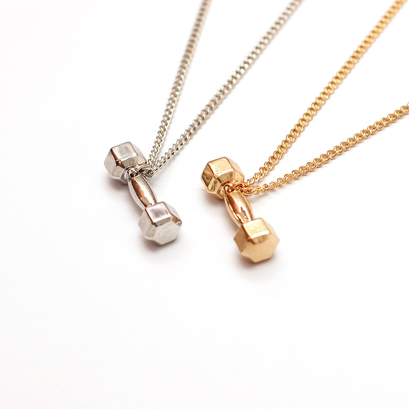 hotselling  dumbbell barbell pendant alloy  necklace  NHRN260388