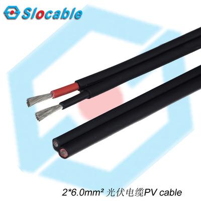 2*6.0mm2光伏线 工厂直销双层绝缘电缆太阳能电线 组件接线盒电缆