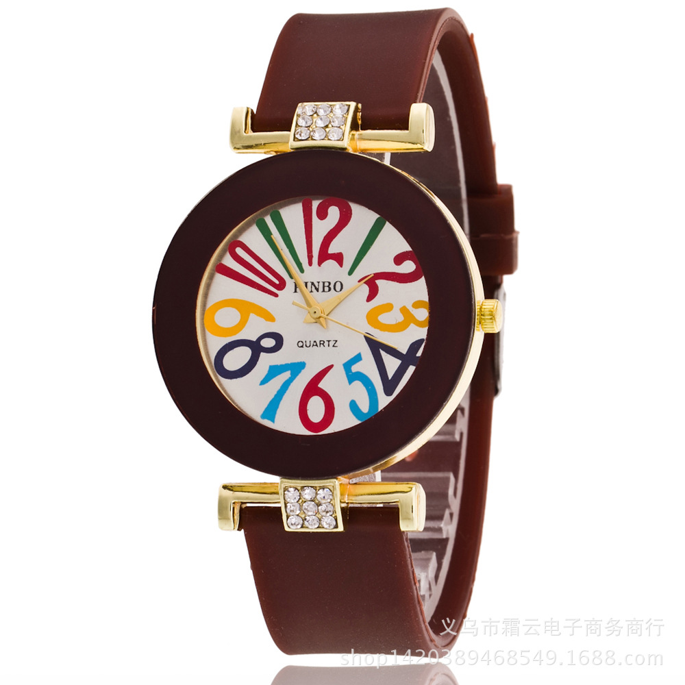 Leisure Ordinary glass mirror alloy watch (white) NHSY0359