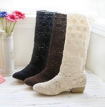 2014热卖全镂空进口网布靴洞洞鞋春夏单靴凉靴中筒靴大码新款女靴