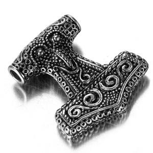 复古朋克摇滚雷神之锤 男士钛钢项链吊坠 欧美欧币饰品外贸