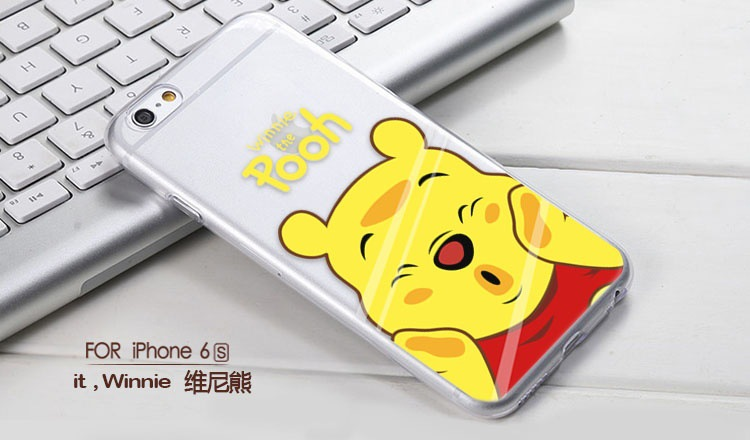 iboann cartoon cute TPU hard silicone case Transparent lovely mickey minnie pooh bear stitch for iPhone 5 5s 6 6s 6 Plus cove