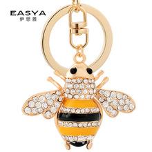 亚马逊热销韩国创意小蜜蜂汽车钥匙扣女士包包挂饰小礼品挂件批发