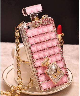 适用于iPhoneX水钻手机壳苹果7保护套iphone8plus香水瓶手机套
