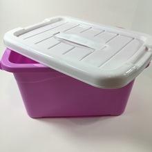 日用百货塑料带盖收纳箱 手提储物箱 五元地摊货源