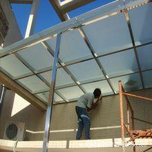 玻璃雨蓬 6+6夾膠鋼化玻璃雨棚鋼化公司大門雨棚不銹鋼結構雨棚