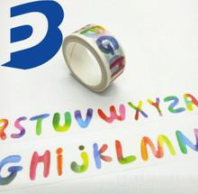 日本进口和纸胶带定制厂家批发胶带diy手账印刷和纸胶带英文字母