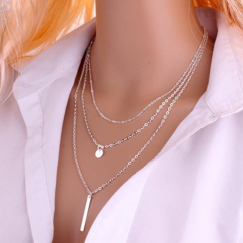 C025速卖通欧美饰品 铜珠链时尚风范几何形金属亮片多层短裤项链