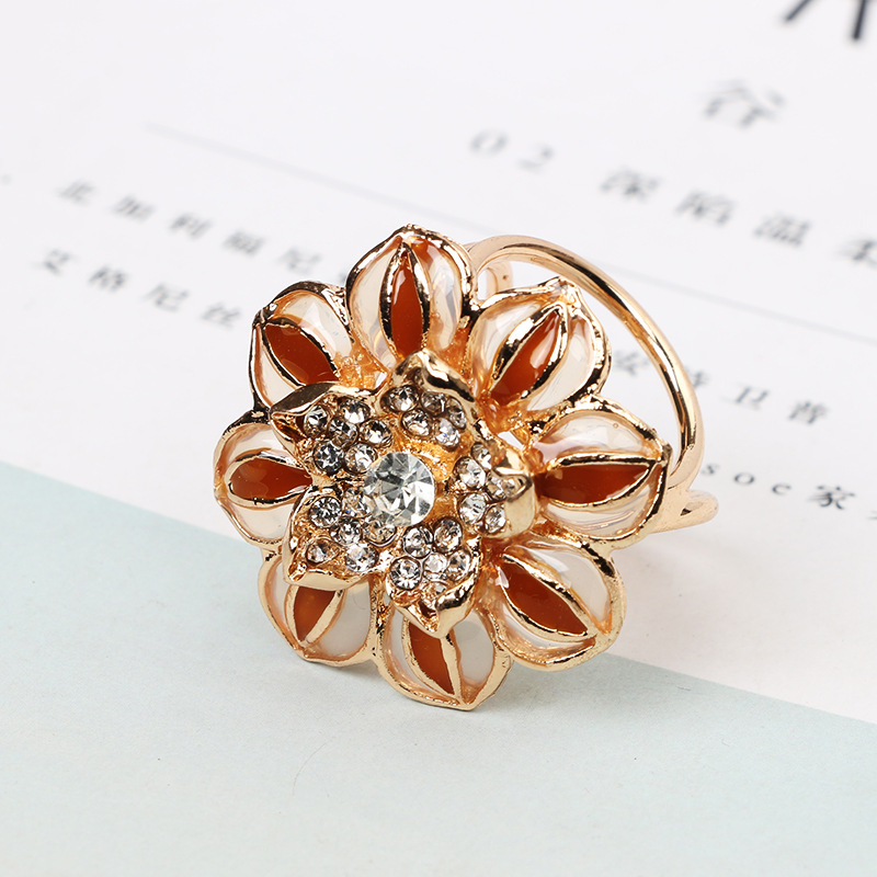 Simple Alloy plating brooch Flowers (Photo Color)NHGY1597-Photo Color