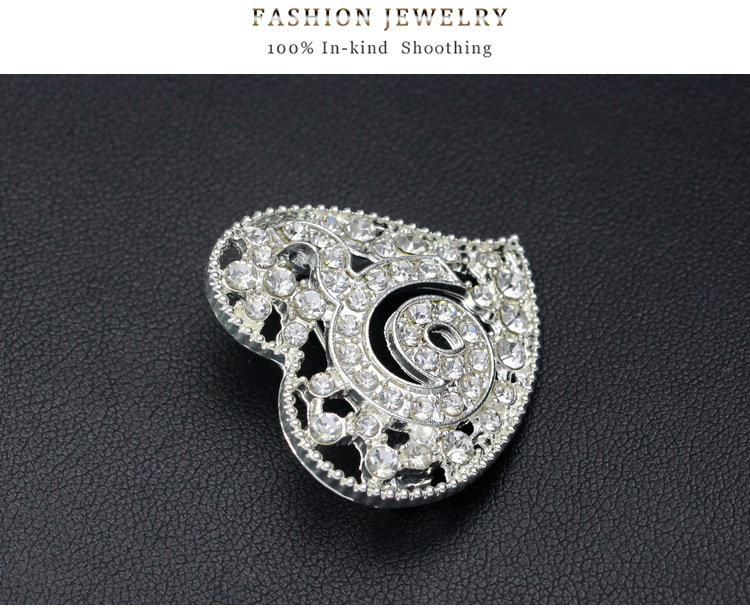 Thailand alloy plating brooch (Black Diamond)NHDR1913-Black Diamond