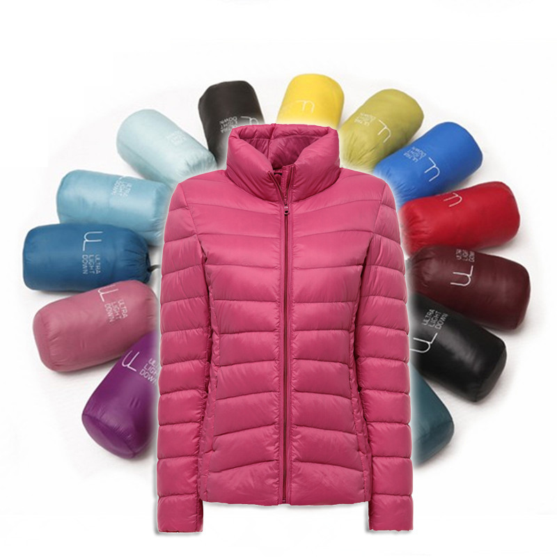 2015秋冬新款轻薄款羽绒服 女士立领短款大码女装修身韩版潮正品
