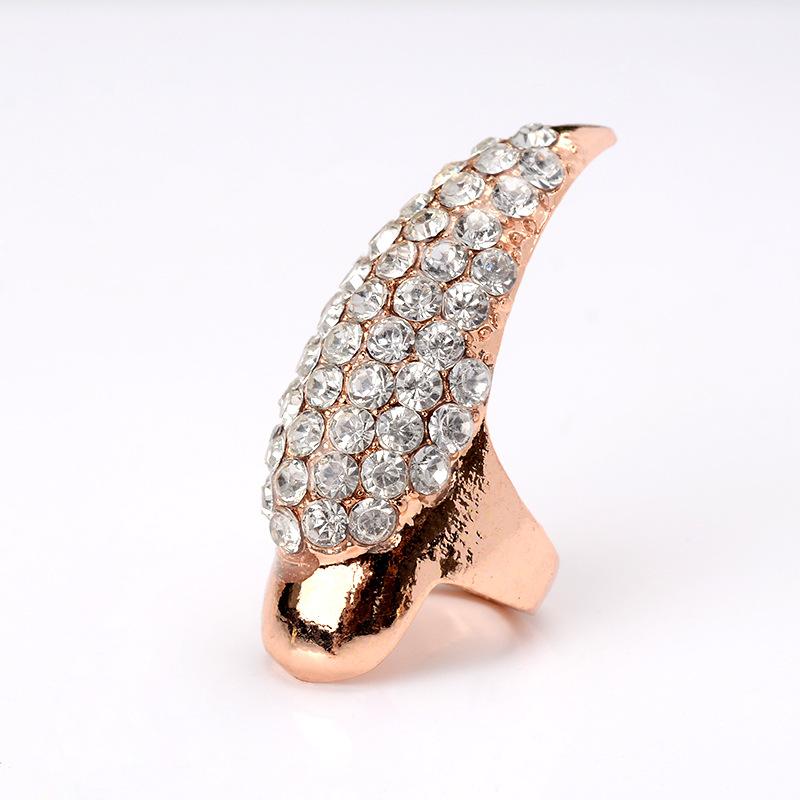 non-mainstream metal plating Ring (Little finger black)NHGY0600-Little finger black