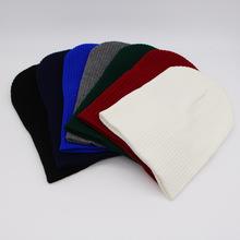 纯色光板针织帽 男女士经典款潮牌毛线帽秋冬天新款帽子外贸冷帽