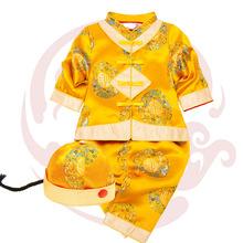 春秋款兒童唐裝寶寶唐裝嬰兒套裝男女童百天周歲禮服滿月服裝新款