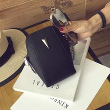批发女包2016新款韩版迷你手机小包包时尚单肩斜跨包链条贝壳包