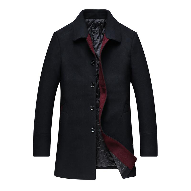 加肥加大码中老年毛呢大衣男中长款秋冬呢子大衣男商务外套爸爸装