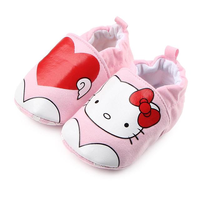 Vải dệt kim mới không thể mua được giày dép cho bé Giày cotton cao gót co giãn cho bé 1487 Giày em bé