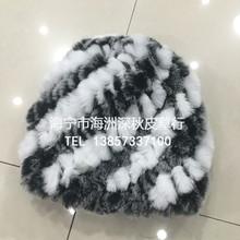 潮流冬季新款时尚兔毛编织弹力网女式帽子 2016欧洲站新款皮草帽