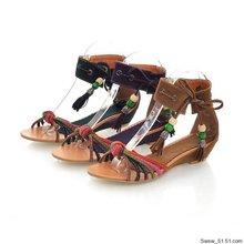 外貿外貿精典老款常年有貨 涼鞋套腳后包跟民族風大碼女涼鞋 216