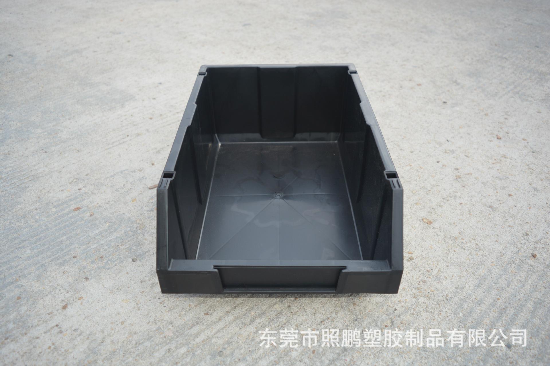 斜口可组合零件盒 带支架斜口物料盒 插柱塑料盒 ?#23548;?#21608;转防静电