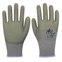 星宇劳保手套L518乳胶半浸胶手套防水耐磨防滑防护手套 厂家直销