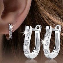 韓版時尚新款氣質耳飾品個性耳環女925純銀耳釘堅琴耳扣現貨批發