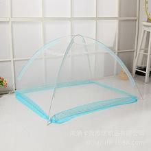 新款热销婴儿床蚊帐儿童床幔婴幼儿宝宝童床蒙古包免安装铁丝刚卡