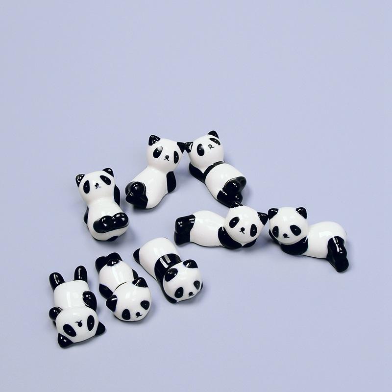 日式筷子架陶瓷熊猫筷托筷子托筷架陶瓷工艺品摆件笔架爆款热卖