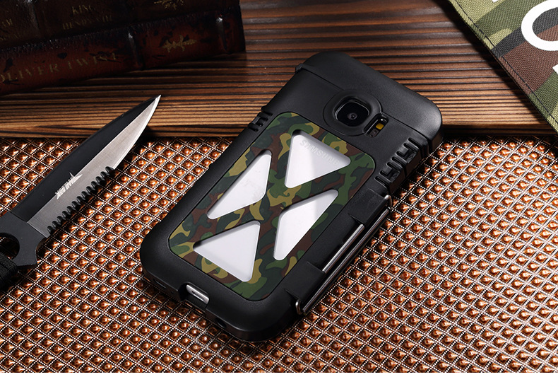 Armor King Iron Man Luxury Shockproof Stainless Steel Aluminum Metal Flip Case Cover for Samsung Galaxy S7 G9300