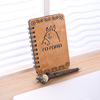 Zakka Japanese stay adorable cartoon Totoro notebook wood thin diary Korean exquisite gift set