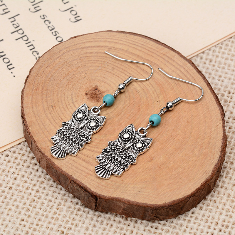 Bohemia Alloy plating earring Animal (Photo Color)NHGY1524-Photo Color
