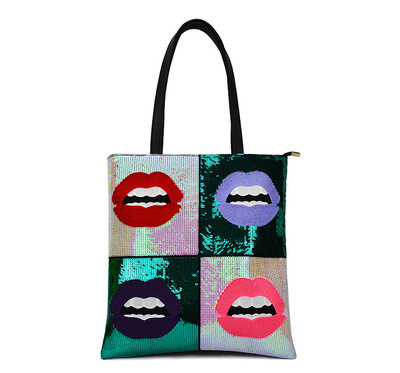 Cool tide lips sequined single shoulder bag handbag large capacity priced direct selling handbag's main photo