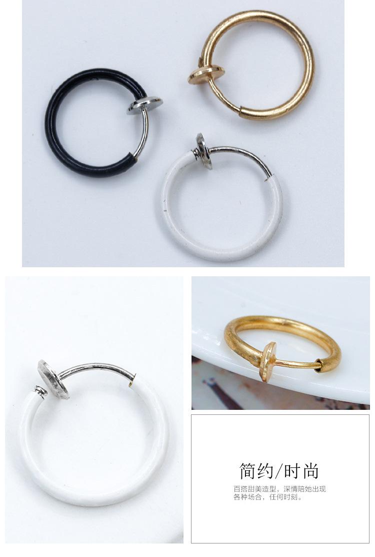 Earrings simple small geometric hoop single earrings NHCU194844