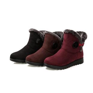 新款老北京布鞋女大码妈妈鞋棉鞋保暖中老年雪地靴棉靴一件代发