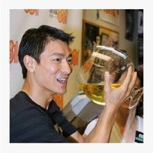 创意啤酒杯扎啤杯超大号酒吧玻璃杯高脚玻璃啤酒杯大容量