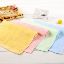 毛巾厂家直销 素色竹纤维童巾25*50儿童小毛巾面巾美容巾广告礼品
