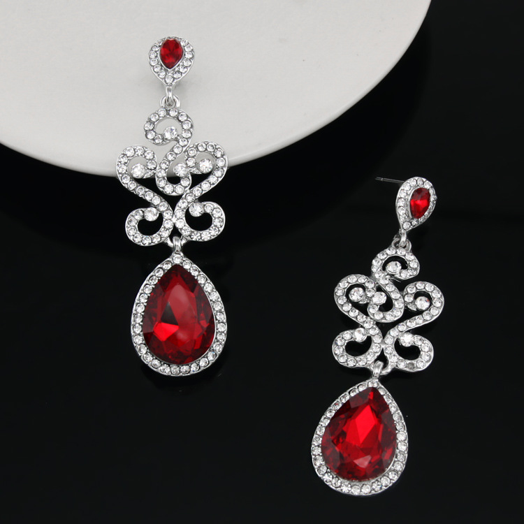 Alloy Fashion Geometric earring  red  Fashion Jewelry NHAS0585red