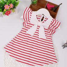 女童韩版连衣裙婴幼儿条纹夏装裙子纯棉条纹支持一件代发批发