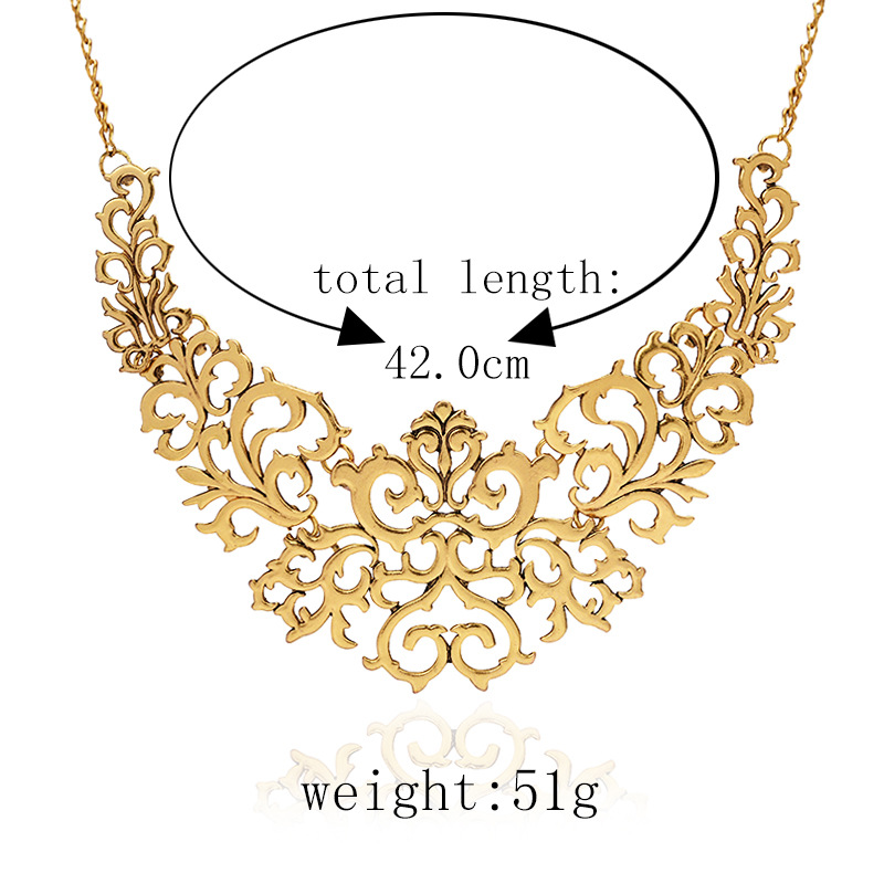 Europe and the United States alloy plating necklace (Ancient gold)NHGY0610-Ancient gold