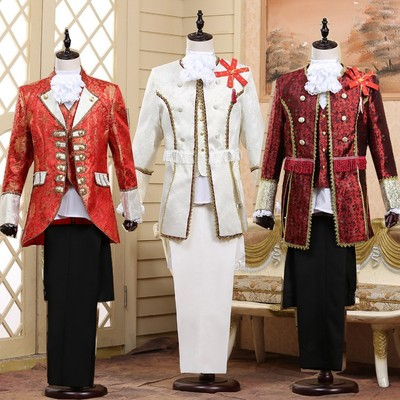 men's jazz dance suit blazers Court dress European men performance dress prince charming stage retro performance European style studio photography adult
