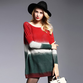 Autumn new loose large size women's sweaters fat MM sets of long sweater sweaters