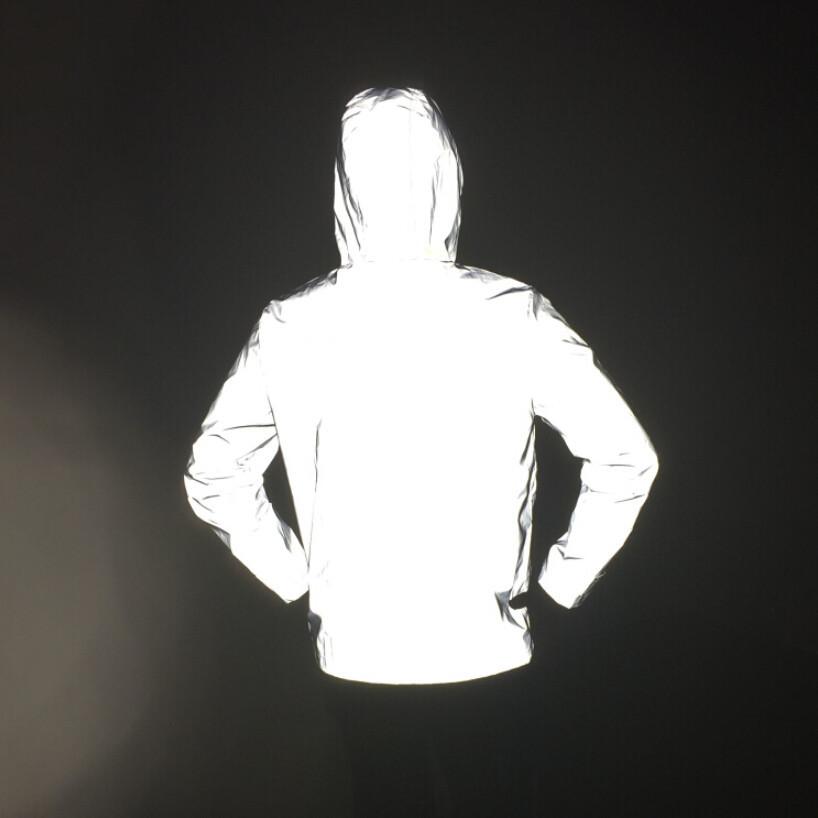 长期供应男女户外运动反光夹克大码连帽全反原宿嘻哈风衣 无Logo