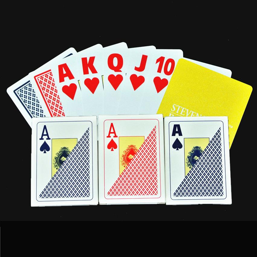 特价犇牛正品德州扑克牌正宗专业塑料大字扑克牌防水布纹纸牌棋牌