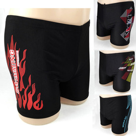 New stylish flat-angle swimming trunks, men's flame, hot spring, adult swimming trunks, beach shorts