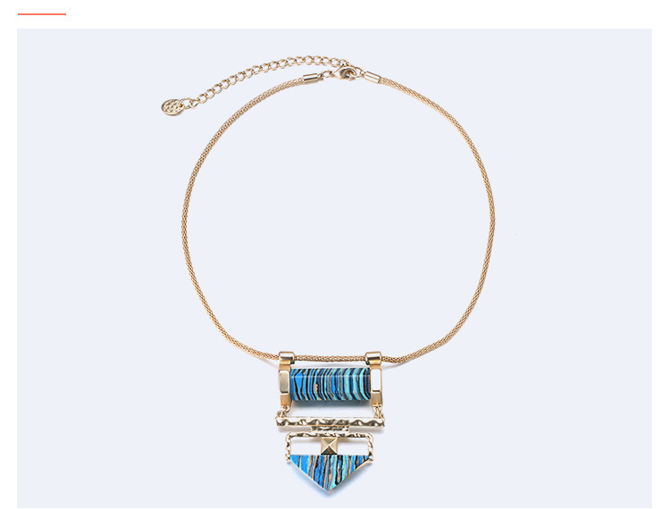 Alloy Fashion Geometric necklace  (Mixed color) NHTF0331-Mixed-color