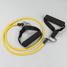 厂家直供拉力器 健身体育器材脚蹬器 握力拉力乳胶管出口厂家批发